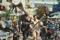 Kratos interrupts man's morning shave in PlayStation's rowdy ad