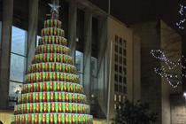 Pringles' giant Christmas tree returns to Spinningfields