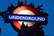 Netflix sends ravens to Baker Street station