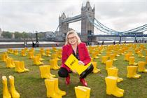 RNLI launches fundraising month with yellow wellies installation