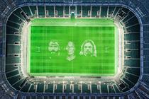 Artists create UK's biggest painting at Twickenham Stadium for rugby restart