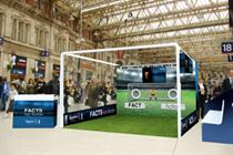 Regaine targets football fans with penalty shoot out sessions at London train stations