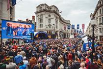 In pictures: NFL on Regent Street event takes over London