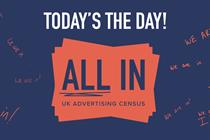 It's 'All In' census day: Industry leaders urge adlanders to take part