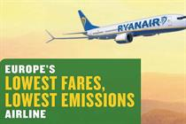 Ryanair ads banned over 'lowest emissions' claim