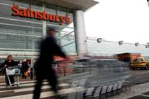 Sainsbury's reports first loss in nearly 10 years at £72m
