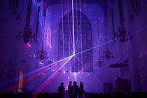 Event TV: Swarovski takes over London church with light installation