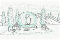 Tiffany creates pop-up with ice rink and scented display