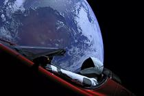 Tesla launches space stunt in world's most expensive car promotion