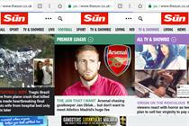The Sun's mobile traffic grows tenfold in year since paywall was dropped