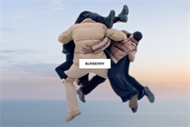Burberry defies gravity in dreamlike film where models fly through nature