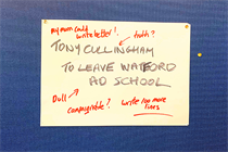 A thank you to Tony from two of The Watford Course's final alumni