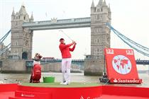 In pictures: Rory McIlroy in Santander Thames stunt