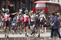 In pictures: Initials sends Dave lost cyclists on Tour de France stunt