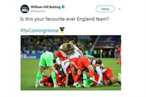 William Hill accused of 'hijacking' England World Cup celebrations with #ItsComingHome sponsorship