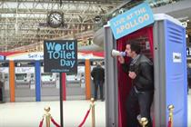 Event TV: WaterAid lands 'portaloo stage' at Waterloo station