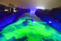 Bompas and Parr turn River Lea green for Open East Festival