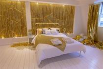 Booking.com unveils glitter activation