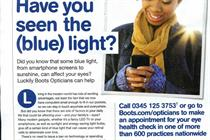 ASA bans Boots Opticians ad for misleading claims over blue light