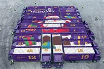 Cadbury creates giant advent calendar for Christmas ad campaign