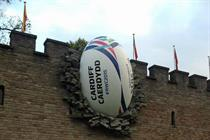Rugby World Cup lands ball in the wall of Cardiff Castle