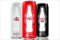 Coke adds Spotify branding to new slim cans