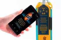 Diageo unveils connected smart bottle that delivers targeted ads