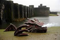 Event TV: Dragon lands by Caerphilly Castle for new Wales campaign