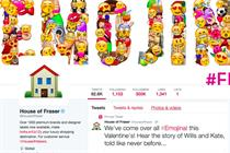 House of Fraser baffles Twitter with off-the-wall Valentine's Day #emojinal campaign