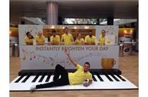 Arc London creates giant interactive piano roadshow for Kenco