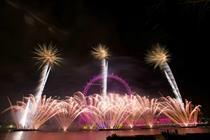 Unicef announced as partner of London NYE fireworks
