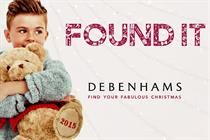 Debenhams marries celebrity and personalisation in 'Found It' Christmas campaign