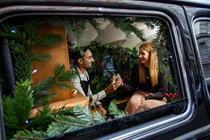 Schweppes transforms London black cab into miniature bar