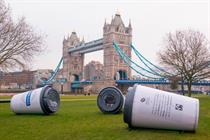 Greggs unveils giant coffee cup sleep pods by the Thames