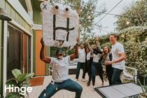 Hinge is selling a pinata of its brand mascot so you can smash it to pieces