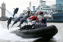 Event TV: Sharknado 3 stunt sees Jedward chased down Thames