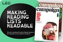 LEO puts Campaign articles on e-reader for advertising students with dyslexia