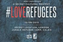 Secret Cinema to host #LoveRefugees secret cultural protest