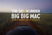 Global: McDonald's unveils giant Big Mac to mark Australia Day