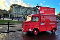 In pictures: Just Eat tours 'Mini fist pumps' van