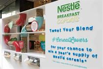 Eventographic: Nestlé Cereals' pick and mix breakfast experience