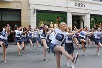 Oasis and Keds celebrate shoe launch with swinging stunt