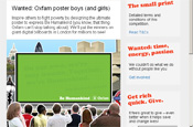 Oxfam launches interactive billboard campaign