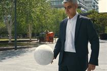 Sadiq Khan does keepy-uppies in London's Euro 2020 campaign
