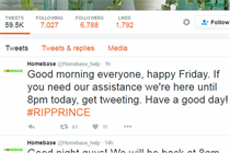 DIY chain Homebase deletes 'tasteless' Prince tweet