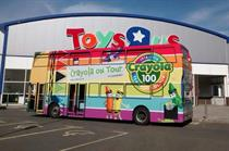 In pictures: Crayola's centenary bus tour