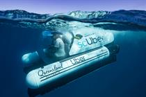 Uber goes under water at Great Barrier Reef