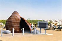 National Trust partners with Panasonic for giant shell installation