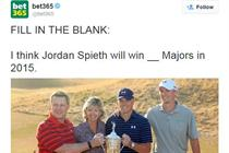 Bet365, Totesport and Coral Twitter ads banned for using image of under-age golfer Jordan Spieth