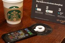 Starbucks UK introduces wireless smartphone charging